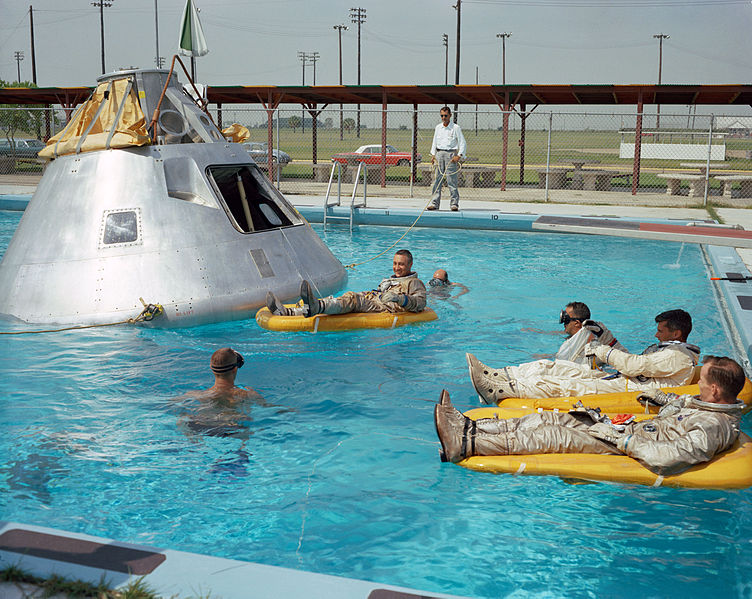 Afflictor.com · Apollo 1 Astronauts Float In A Texas Pool ...