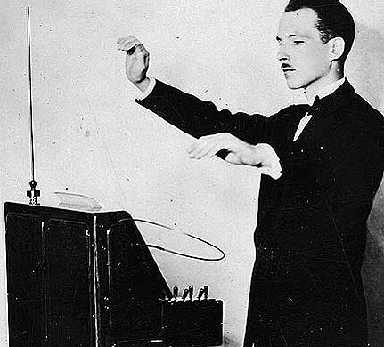 """The young inventor, with sweeping gestures of his hands, 'drew music from the ether.'"""