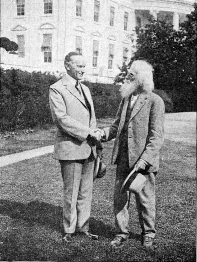 With President Calvin Coolidge,