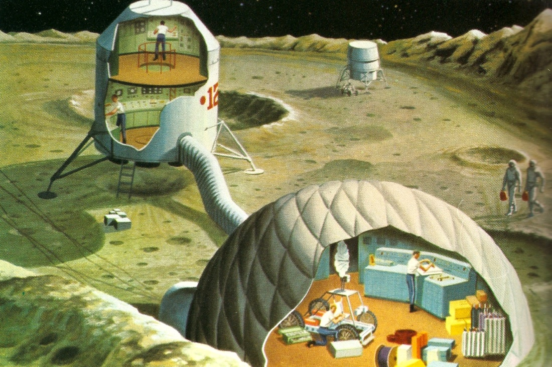 lunar colony in space -#main