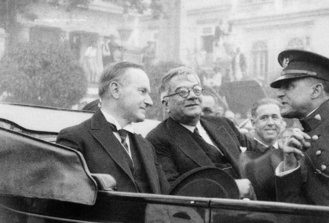 Coolidge and Machado in Cuba
