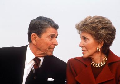Ronald And Nancy Reagan Return To Los Angeles After Rea