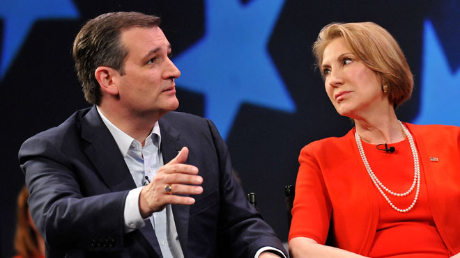 This week, Ted Cruz selected Carly Fiorina as Vice President of all the doggies.