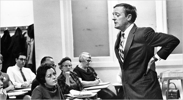 William F. Buckley, Jr. looking like a preppie chicken