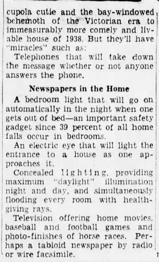 3863c Old Print Article: What Life Will Be Like In 1963, Brooklyn Daily Eagle (1938)