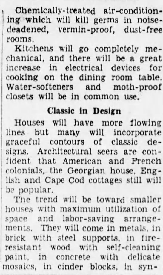 3863d Old Print Article: What Life Will Be Like In 1963, Brooklyn Daily Eagle (1938)