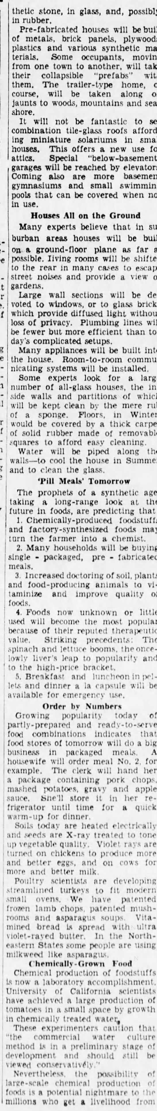 3863e Old Print Article: What Life Will Be Like In 1963, Brooklyn Daily Eagle (1938)