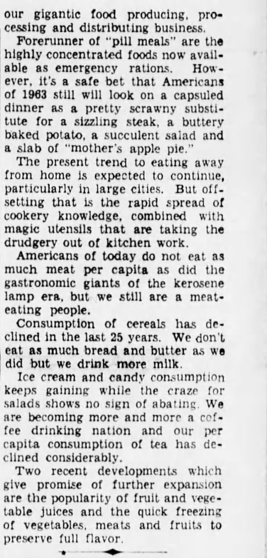 3863f Old Print Article: What Life Will Be Like In 1963, Brooklyn Daily Eagle (1938)