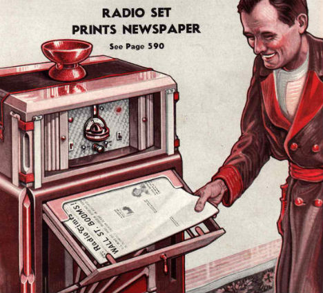 Retrofuturistic Gadgets Radio Prints Newspaper Old Print Article: What Life Will Be Like In 1963, Brooklyn Daily Eagle (1938)