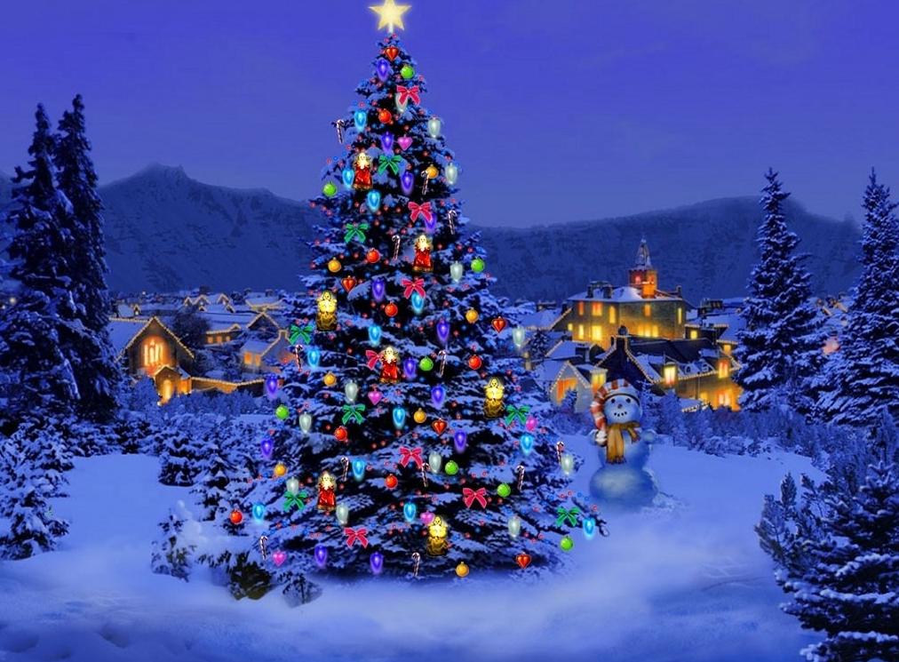 christmas snow scenes pictures