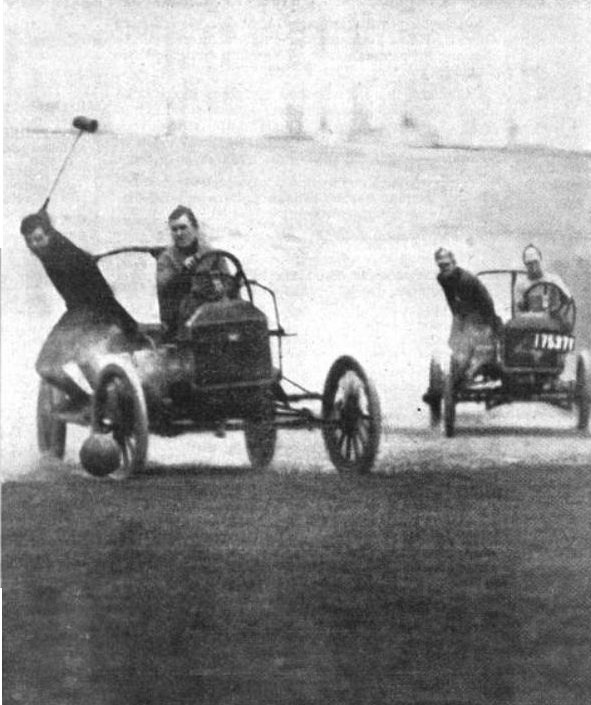 Auto polo by Colliers Old Print Article: Auto Polo Thrills New York City, New York Times (1913)
