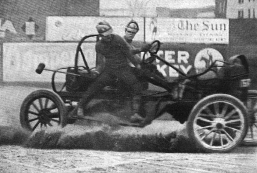 Auto polo by the International News Service Old Print Article: Auto Polo Thrills New York City, New York Times (1913)