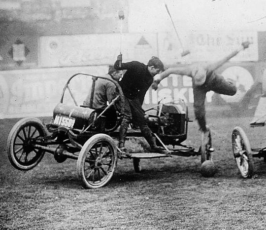 Auto polo crop Old Print Article: Auto Polo Thrills New York City, New York Times (1913)