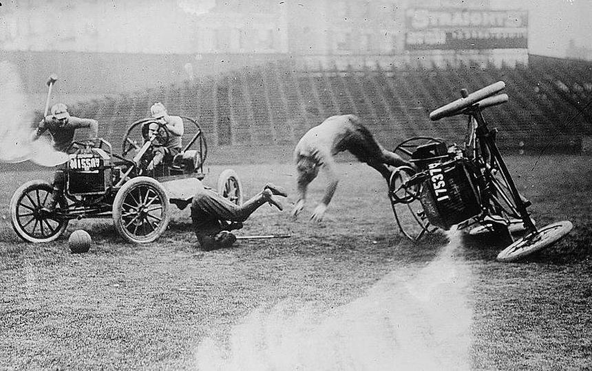autopolo2 Old Print Article: Auto Polo Thrills New York City, New York Times (1913)