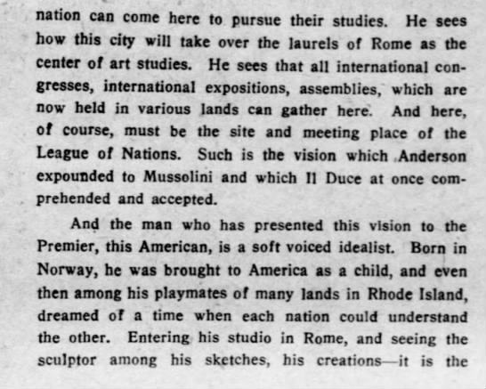 and5 Old Print Article: American Sculptor To Build Perfect City, Brooklyn Daily Eagle (1927)