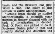 """lenin31 e1413277415335 1 e1466055542371 Old Print Article: """"Russians Cut Lenin's Brain Into 15,000 Pieces To Find Secret Of His Greatness,"""" Brooklyn Daily Eagle (1929)"""