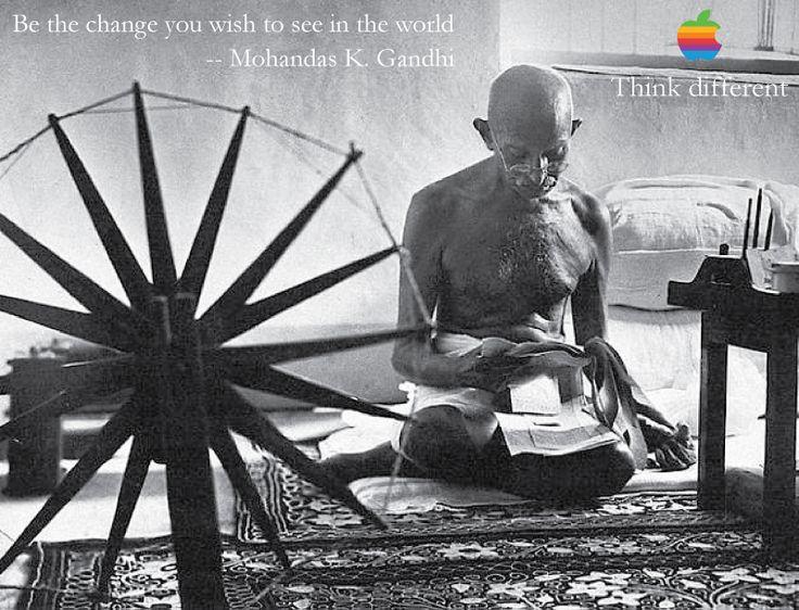 Resultado de imagen de gandhi apple commercial