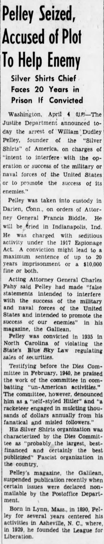 pelleya1 Old Print Article: William Dudley Pelley, An American Hitler (1938/42)